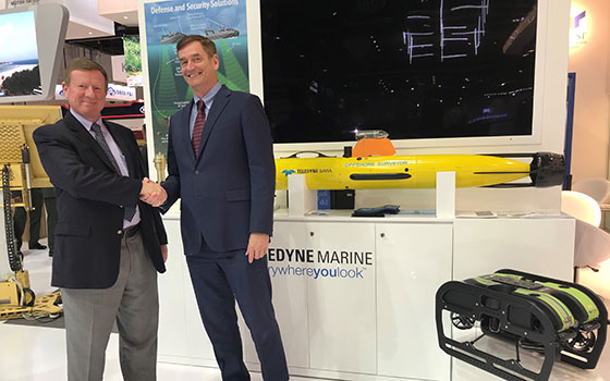 Teledyne News   Teledyne Marine Delivers Unmanned Systems